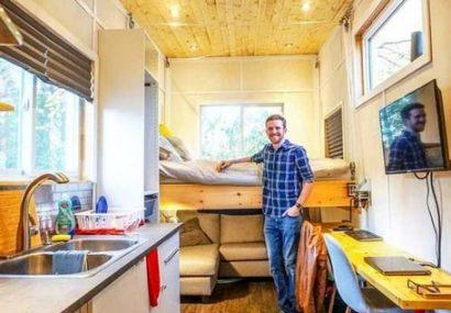 خانه قابل حمل ۱۵ هزار دلاری با سقف خورشیدی+ تصاویر