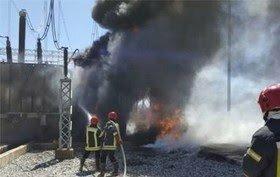 مهار آتش سوزی ، نیروگاه رامین اهواز