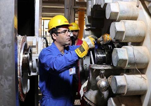 تعمیر شیرهای توپی ایستگاه تزریق گاز آغاجاری