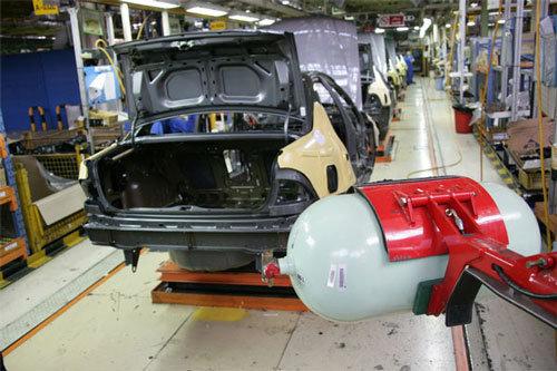 تولید خودروهای دوگانه سوز کارخانه ای
