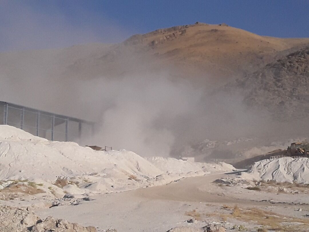 آلودگی محیط زیست با گرد و غبار معادن تویسرکان