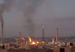 انفجار در پالایشگاه نفت بانیاس سوریه