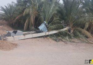خسارت دو میلیاردی طوفان به شبکه برق دلگان