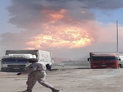 جزئیات انفجار تانکر گاز در گمرک اسلامقلعه افغانستان/ انتقال کامیونها به نقاط امن