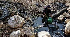 تعهد شرکت نفت برای جبران خسارتهای کارشناسی آلودگی نفتی سرخون