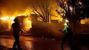 قطع برق کابل بر اثر آتش سوزی گسترده