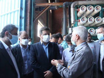 معاون راهبری شرکت برق حرارتی از طرح آب شیرین کن نیروگاه نکا بازدید کرد