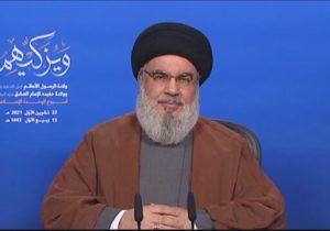 سیدحسن نصرالله: زمانی که نفت و گاز لبنان در خطر باشد، وارد عمل میشویم حتی در منطقه مورد مناقشه