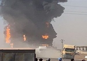 وقوع آتشسوزی مهیب در نزدیکی تأسیسات نفتی جنوب لبنان